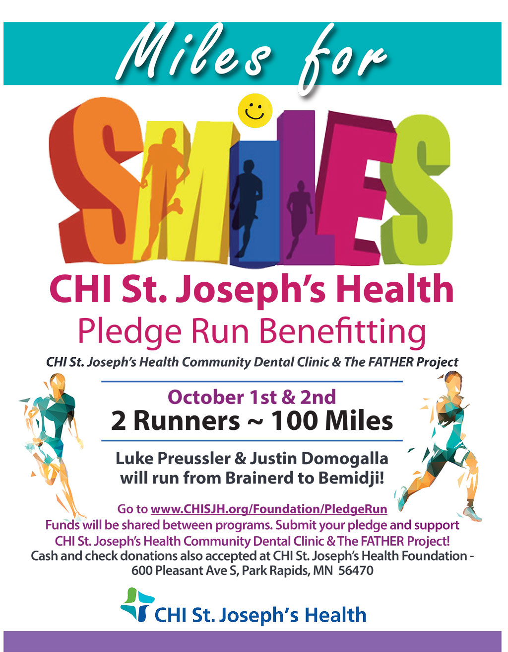 Miles for Smiles Pledge Run